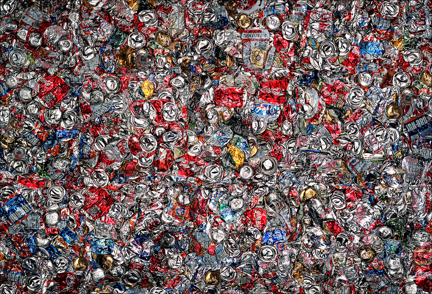 Recycle, Crushed Cans ©Paul Hampton Photographer Glasgow